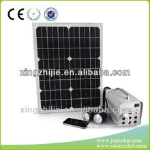 20W/12AH 12V/5V output simple operation solar system for lighting