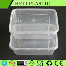 Disposable microwave plastic food container for food take away/plastic lunch box
