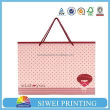 2015 Wholesales Custom Printed Handmade Luxury multifunctional paper foil bags