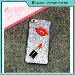 Plasitc Back Cover case for iphone 6, bling bling 3D lip case for iphone 6