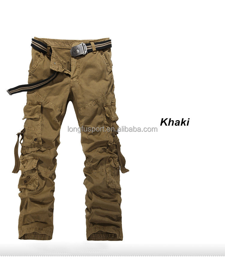 Baggy Khaki Cargo Pants For Men Mens Cargo Pants With Side