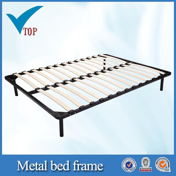 Full Size Wood Slat Metal Bed Frame Buy Metal Bed Frame