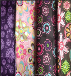 polyester satin blackout fold window curtain for fabric 100% Polyester 75D*75D satin Best selling new satin fabric