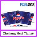 280 gsm Pepsi-Cola taza de papel de papel personalizar