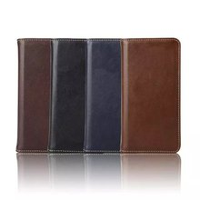 2015 New arrival genuine leather case for samsung note 5 real flip leather case