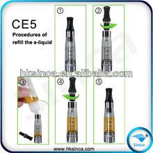 HOT!2012 Newest health e-cigarette ce5/ce5+ atomizer ce5 clearomizer with various color CE4 CE5 CE6 CE7 CE8 Series