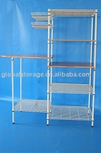 Home use chrome wire shelving