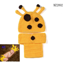 MZ2892 Newborn Costume baby hat Short Set handmade Knit crochet photography props 2 pcs outfits