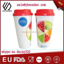 2015 promotion plastic coffee cup with logo