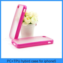 TPU Bumper Frame With Matte Clear Hard Back Skin Case Cover for iPhone 4 & 4S