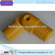 50mm diameter frp grp fiberglass handrail flexible elbow, balustrade elbow
