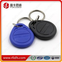 13.56MHZ/125KHZ rfid key tag with serial number