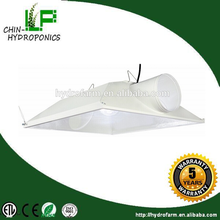 Hydroponics super large 6'',8'' air cooled reflector/aluminum parabolic reflector/reflector glass lampshade cool tube