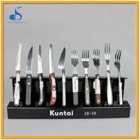 stand cutlery stainless steel german fish metal spork flatware