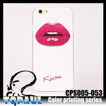 High quality sex lip color printing phone case for iphone 6