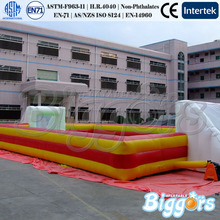 Giant Commercial Inflatable Football Soccer Soap Field With Water For Sale