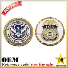 cheap fake gold coins / custom challenge coins / metal military coins