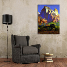 Free Shipping High Quality Abstract Modern Landscape Desert Hills Oil Painting On Canvas Abstract Desert Mount Oil Paintings