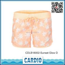 maple leaf print womens Sunset Glow D beach shorts