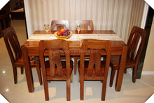 Home / Hotel / Restaurant Used Elegant Solid Wood Dining Table Sets For Sale