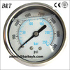 Stainless steel 60mm oil-filled pressure guage,axial direction Pressure meter