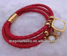 wholesale knitted leather bracelet fashion