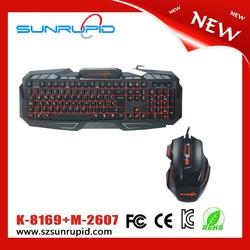 Cheap Ultra Slim Illuminated USB Wired Keyboard And Mouse Kit, Backlit Gaming Keyboard Combo USB