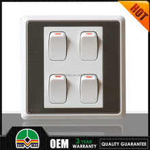 2015 new type antique push power 220v wall light switch for pc
