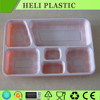Disposable plastic compartment food tray/container