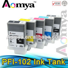 China supplier Hot PFI-102 compatible ink cartridge for Canon ipf 605