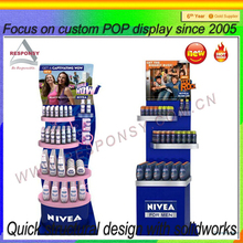 Body Lotion Merchandiser Metal Showroom Floor Display Stand
