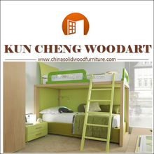 Bedroom Furniture Type and Modern Appearance wooden bunk beds/adult hotsale twin bunk bed