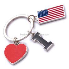 NEW CUSTOMIZED METAL souvenir America keychain