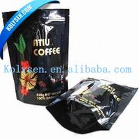 Flat bottom top zip lock coffee bag with valve/tear
