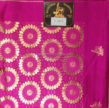 Fushia and gold color wholesale gele jubilee african headtie high quanlity for party