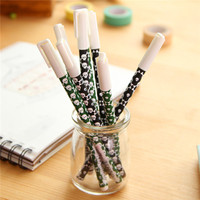top selling stationery import from china simple fashion design skeleton customized pens black gel pen