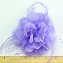Durable classical decorative purple fabric flowers