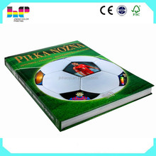 fashion football magazine printing/ low cost hard cover printing/ hot stamping