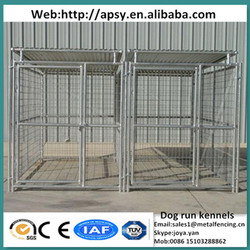 Hot sale zoo animals dog kennels fence panels 3mx1.5mx1.8m PVC metal dog cages outdoor portable hot galvanized kennels for dogs
