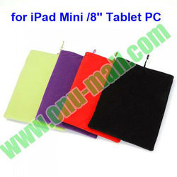 "Protective Double Polyester Cloth Sleeve Bag/Pouch for iPad Mini / 8"" Tablet PC"