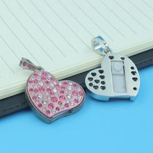 100% Real Quantity 4GB 8GB Fashion Jewelry Crystal Heart Usb Stick Pen Drive Usb Flash Memory
