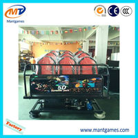 Exciting 5d cinema amusement rides,5d cinema system with game software,electric motion 5d cinema equipment