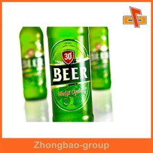 Guangzhou factory wholesale waterproof custom adhesive beer label with your logo