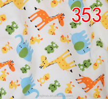 Wholesale Printed 100 Cotton Duoble Jersey Knitted fabric for baby clothes
