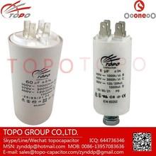 white plastic round case cbb60 35+5uf 450v capacitor