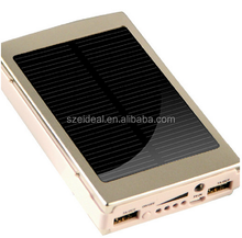 Solar Power Bank, Ultra slim solar power bank, rechargeable panel power bank with big capacity for cell phones and digital devic