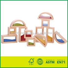 Nature Color Wooden Transparent Block Toy