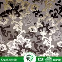 Yarn dyed jacquard damask 100% polyester dying upholstery fabric