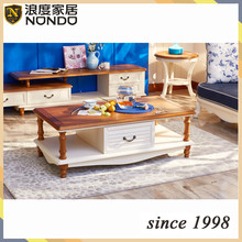 Shunde/Foshan furniture oval solid wood tea/side table HK0079