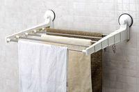 telescopic hanging drying rack&expandable towel rack&foldable shelf&adjustable wall mounted shelving&bathroom